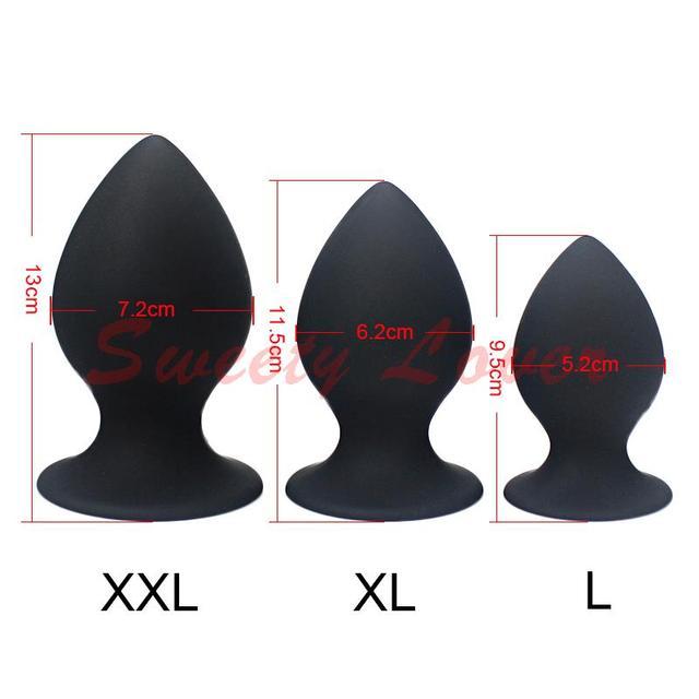Silicone Butt Plug Large Anal Vibrator Huge Anal Plug