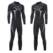New One Piece Neoprene 3mm Diving Suit Winter Long Sleeve Men Wet suit Prevent Jellyfish Snorkeling Suit Free Shipping