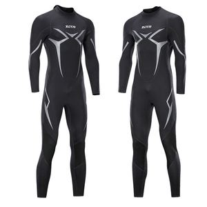 Image 1 - New One Piece Neoprene 3mm Diving Suit Winter Long Sleeve Men Wet suit Prevent Jellyfish Snorkeling Suit Free Shipping