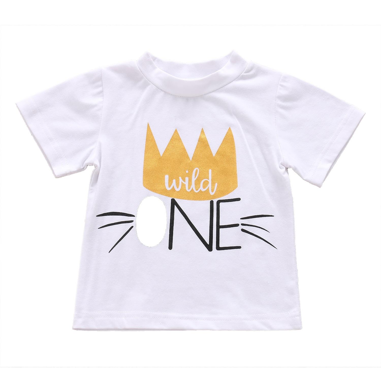 1st Birthday Newborn Kinder Baby Jungen Mädchen Sommer Kleidung T-shirt Tops Bluse Baumwolle Schöne Kinder Jungen Mädchen T-shirt Kleidung Perfekte Verarbeitung