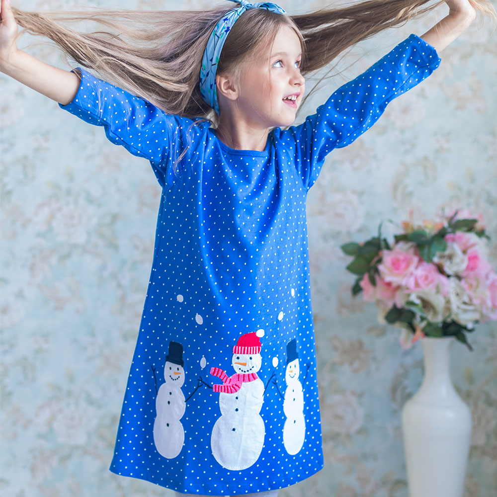 Baby Dress Cotton A-line Princess Dress Christmas Costume for Kids Clothes Autumn Winter Toddler Girls Dresses Children Clothing 2018 girl party dress spring a line kids dress for girls autumn princess dresses children 2 14 clothes girl long sleeve clothing