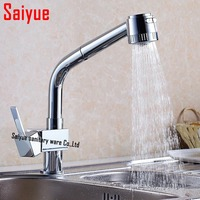 New Design Pull Out Faucet Chrome Swivel Kitchen Sink Mixer Tap Kitchen Faucet Vanity Faucet Cozinha