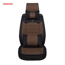 цена на HeXinYan Universal Flax Car Seat Covers for Ssangyong all models Actyon Kyron Rexton korando Tivolan auto accessories styling