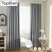 Top Finel 2016 Solid Twill Window Shade Thick Blackout Curtains for Living Room the Bedroom Window Treatment Curtain Panel Drape
