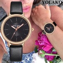 Hot Sell Newest Luxury Brand YOLAKO Watch Women Watches Leather Quartz Dress Ladies Wrist Waterproof relogio feminino