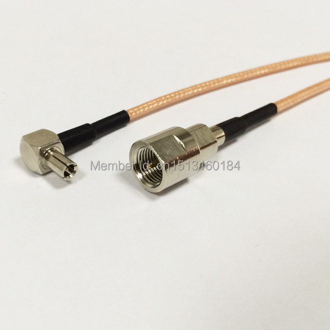 New  FME  Male Plug To TS9 Right Angle Connector  RG316 Coaxial Cable Pigtail 15CM 6