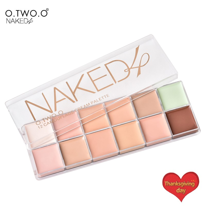O Two O Paleta De Corretivo Profissional 12 Colors Cosmetic Camouflage Concealer Palette Face