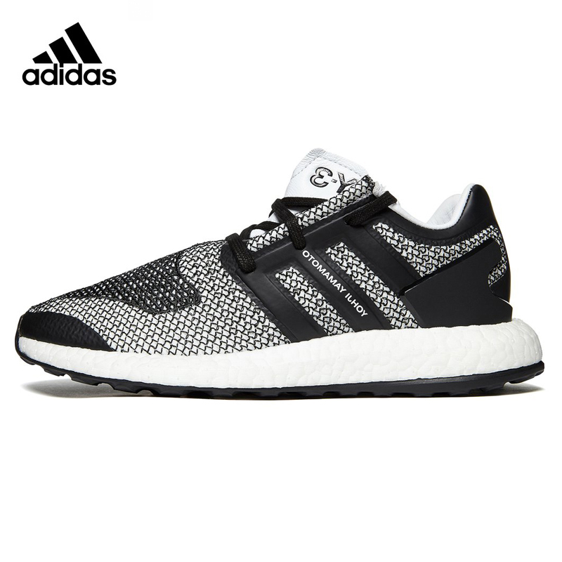 Adidas Y-3 Pure Boost Men's Running Shoes ,Grey & Black,Wear-resistant Breathable Lightweight Damping CP9888 adidas сумка взр run belt rayred black grey