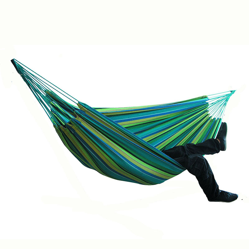 Thicken Canvas 200x150cm Camping Hammock Two-persona High Quality Hanging Swing Chair Outdoor FurnitureThicken Canvas 200x150cm Camping Hammock Two-persona High Quality Hanging Swing Chair Outdoor Furniture