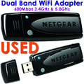 USADO RangeMax Dual Band Wi-fi 600 Mbps USB Wireless-N Adaptador v3 WNDA3100 USB Ethernet Adaptador Wi-Fi WPS para NetGear WNDA3100v3
