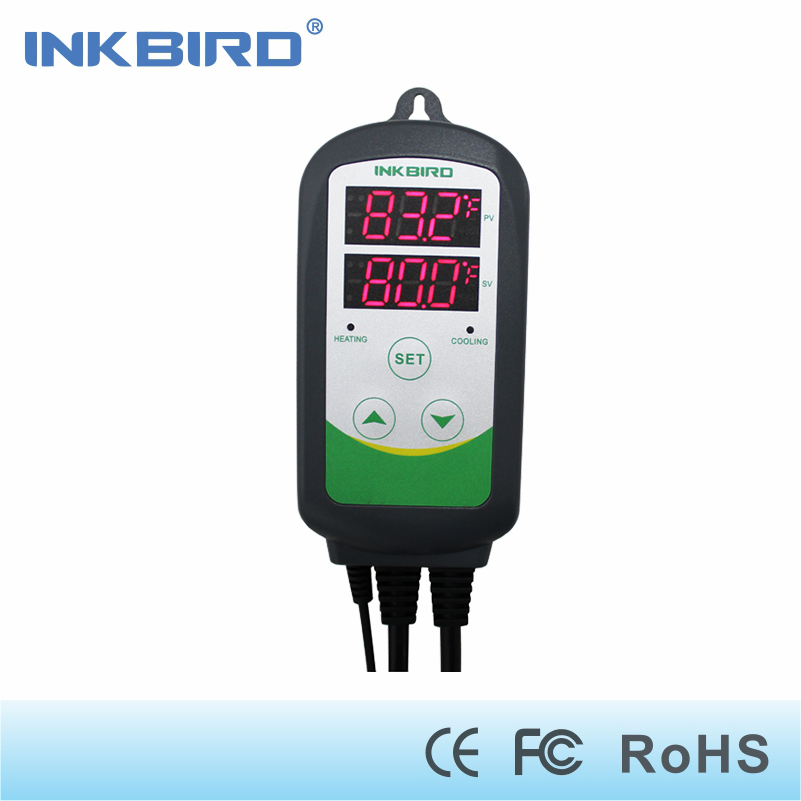 Inkbird ITC-308 Heating and Cooling Dual Relay Temperature Controller, Carboy, Fermenter, Greenhouse Terrarium Temp. Control inkbird itc 308 eu plug digital temperature controller thermostat regulator dual relays 1 heating