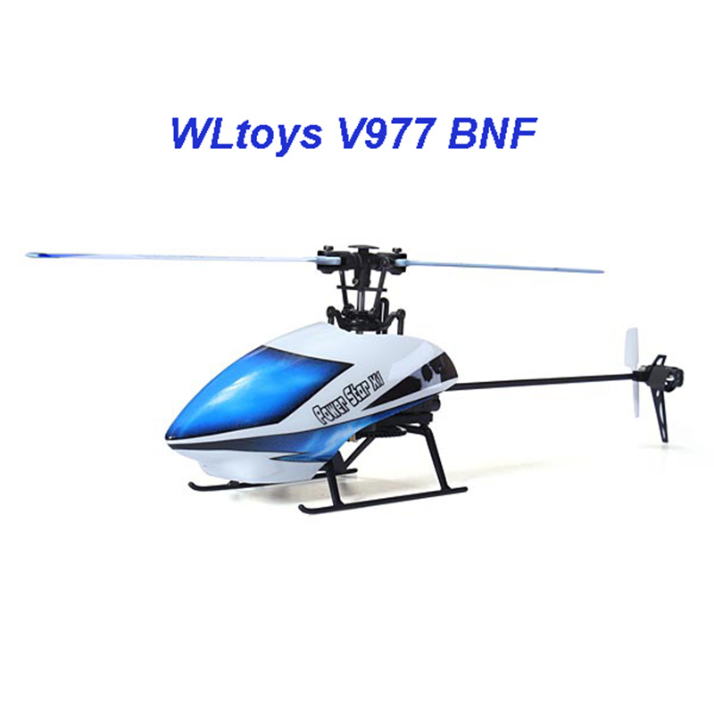 ФОТО WLtoys V977 Power Star X1 6CH 2.4G Brushless RC Helicopter Only Body BNF Version