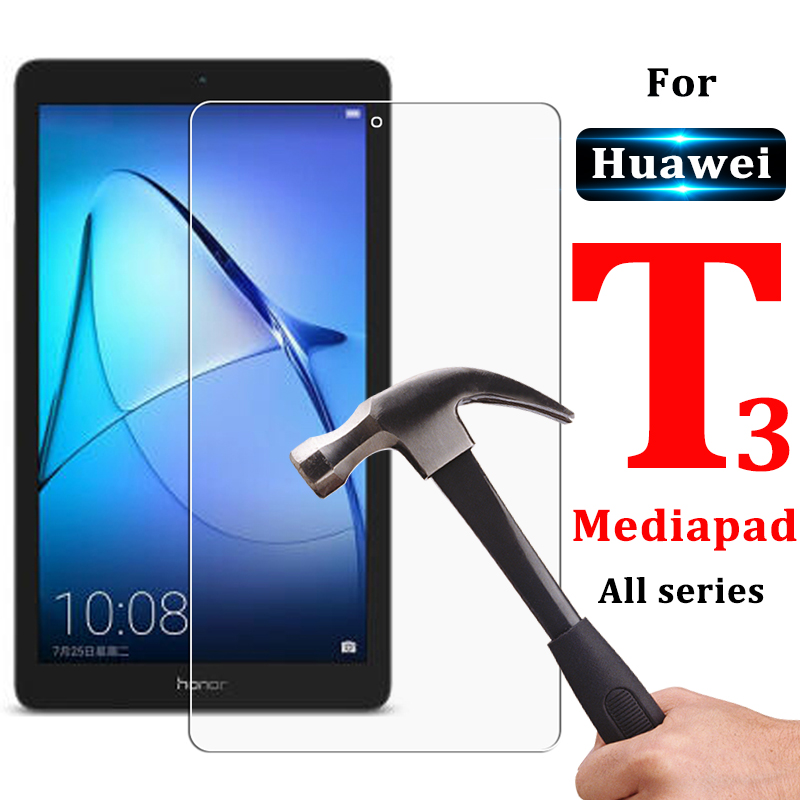 Protective Tablet Glass On The For Huawei T3 Mediapad T 3 7 8 9.6 Inches Tempered Media Pad Wifi Version 4G Film Screenprotector