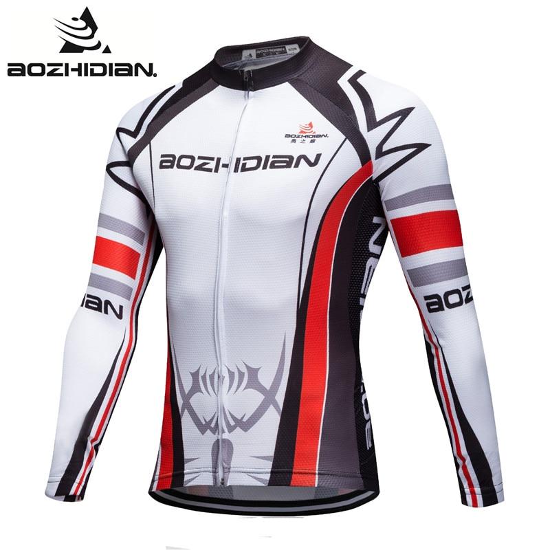 Prix pour 2017 AZD65S Spécialisée Maillot Cyclisme VTT Pro Équipe Hommes Clothing Manches Longues Drôle Vélo Jersey Maillot Ropa Ciclismo