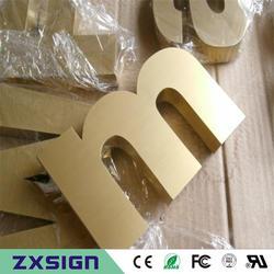 Обувь по заводским ценам открытый покрытие Titanium буквы из нержавеющей стали, золотистый цвет металла логотип знаки