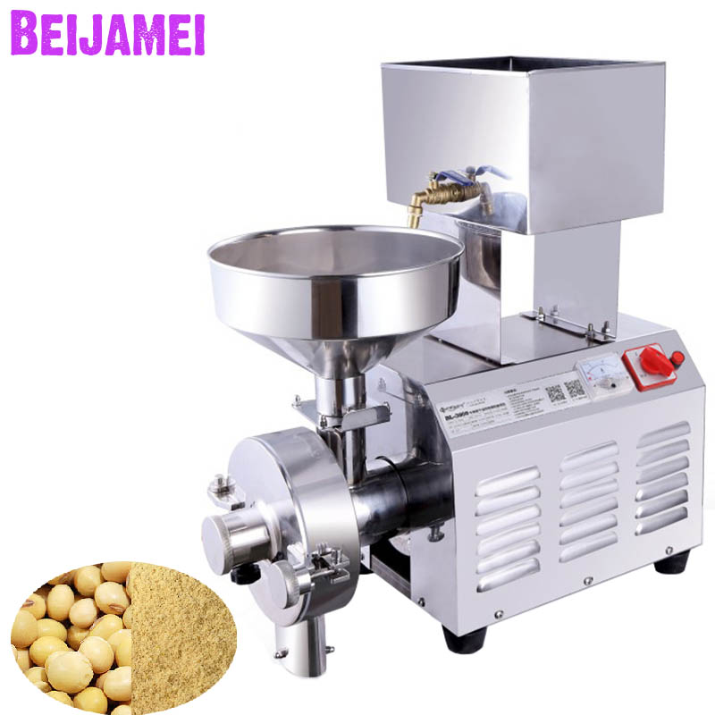 Beijamei 3KW Grinder for Soymilk Machine Commercial Rice Peanut Sesame Pulp Grinding Machine For Sale