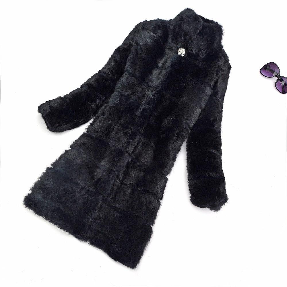 Luxe Manteau De Épais Chaud Naturel Réel Diamants Veste Ksr267 Mode Personnalisé Femmes Tailles Fourrure Toutes Hiver Véritable Lapin Les nwN80vOm