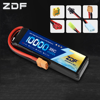 ZDF RC Car Lipo Battery 2S 2P 7.4V 10000mah 35C Max 70C Hard Case For Airplane Traxxas Car RC Truck Support wholesale