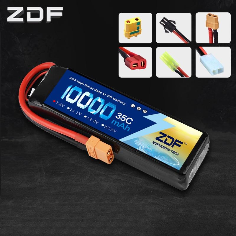 ZDF RC Voiture Lipo Batterie 2 S 2 P 7.4 V 10000 mah 35C Max 70C Dur Cas Pour Avion traxxas Voiture RC Camion Soutien gros