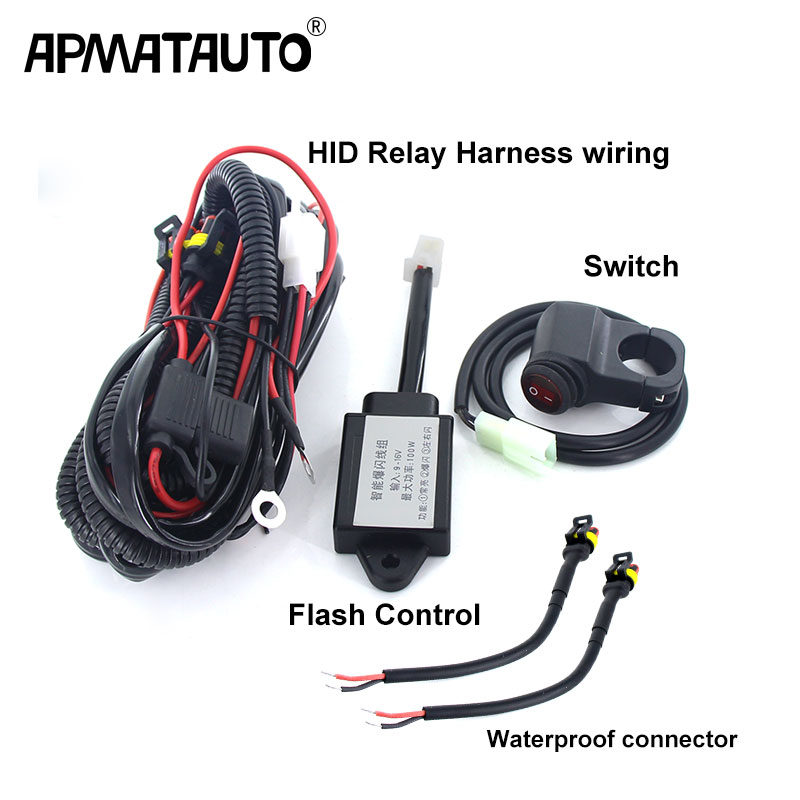 1 Set Flash Control HID Relay Harness Line Group Switch For Automotive Car Work Light Spotlight Flashlight With Multi MODES
