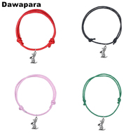 dawapara-sitting-dachshund-dog-charm-pendant-bracelet-handmade-adjustable-korean-wax-cord-chain-fashion-jewelry