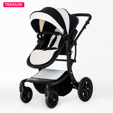 New High Landscape Luxury baby stroller 2 in 1 PU leather baby