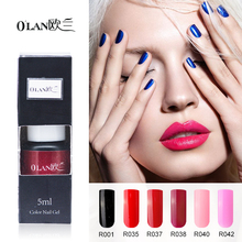 Olan 1 pieces/lot long lasting one step gel varnishes Gel nail polish 3 in 1 vernis semi permanent esmalte para unha nail glue