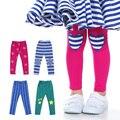 Meney's Leggings Kids Pants 2016 Skinny Red Baby Girls Leggings Pattern Stars Full Length Autumn Pants Cotton Children Trousers