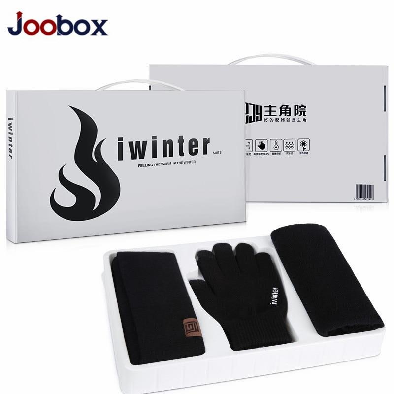 f8d9edde833 Christmas present Warm 3 Pieces Set Winter Hats Scarf Gloves For Women Men  Thick Cotton Winter