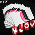 Herramientas de Belleza Nail Art Sticker French STZ Opcional Decoraciones Guiador Consejos Lindo DIY Diseños de Plantilla Manicura Decoraciones FJ01-22