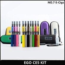 Эго CE5 Комплектов Электронных Сигарет эго-Т Батарея 650 мАч 900 мАч 1100 мАч CE5 Распылитель в Молнии Случае для Электронных Сигарет Эго ce5