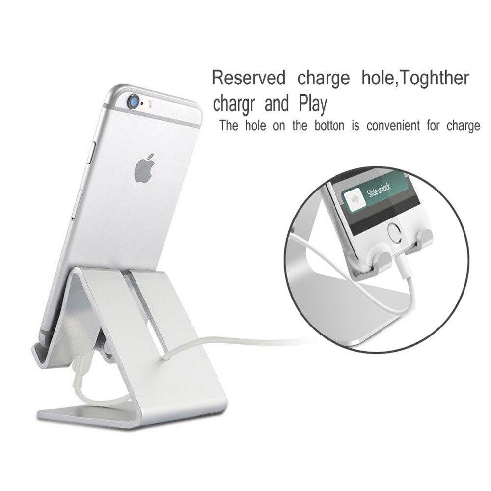 Abbery Универсальный мобильный телефон подставка держатель алюминиевый сплав стол держатель для телефона Подставка для зарядки Колыбели кре...