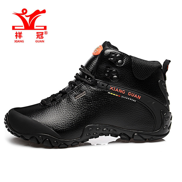 XIANG GUANG Top Quality Handmade A Microfiber Leather Ankle Boots outdoor men boots shoes waterproof  mens hiking boots 81998