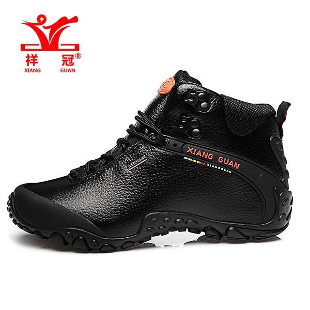 XIANG GUANG Top Quality Handmade Uma Microfibra homens botas Ankle Boots de Couro ao ar livre sapatos botas de caminhada dos homens à prova d' água 81998