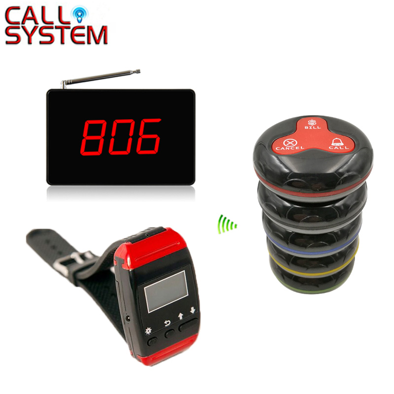Wireless Waiter Service Call Pager Table System Competitive Price 433.92mhz For Restaurant( 2 display+2 watch+16 call button )Wireless Waiter Service Call Pager Table System Competitive Price 433.92mhz For Restaurant( 2 display+2 watch+16 call button )