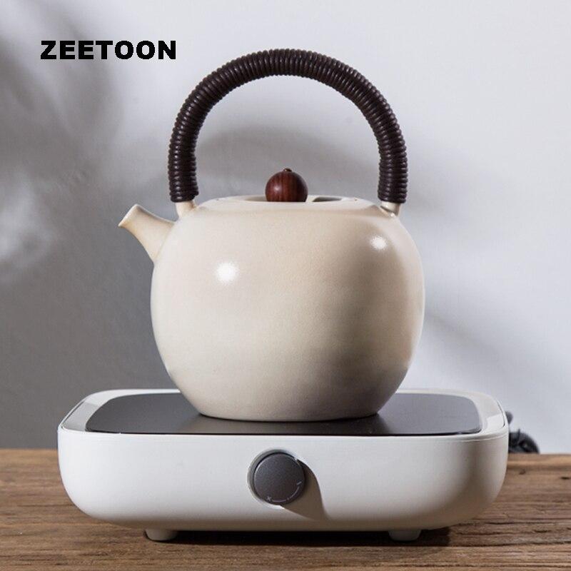 220V Electronic Tea Stove Heater + Teapot Set Warmer Electric heating Ceramic Stove Kit for Glass Pot Coffee Tea Cup Mug Kettle