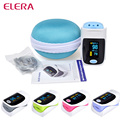 ELERA Health care CE Fingertip Pulse Oximeter Portable Oximeter a finger OLED oximetro de dedo pulsioximetro with Case