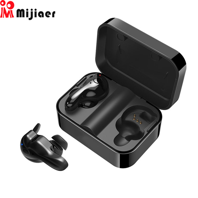 Mijiaer Bluetooth 5.0 TWS Earphone Wireless  with Mic Mini Earbuds Sport Wireless Headphones with Charging Box for Xiaomi iphone