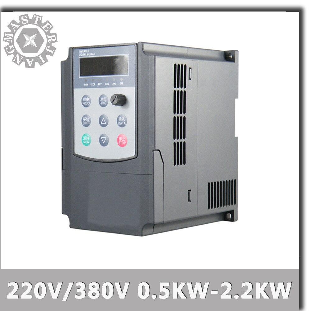 220V 380V 0 5 0 75 1 5 2 2KW Inverter VFD Spindle Inverter 220v 380v