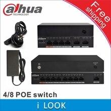 Коммутатор Dahua PoE, 4 + 2 порта, коммутатор PoE, 8 + 1 порт, питание от сетевой камеры, с питанием от сети, для подключения к сети, с питанием от сети, с питанием от сети