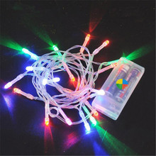 Christmas string light LED battery light 2M 3M 4M 5M 10M holiday lights/wedding/LED decoration lamp series 3*AA battery powered