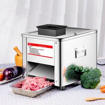 Ticari Et Dilimleyici Paslanmaz Çelik Tam Otomatik 850 W Parçalayıcı Dilimleme Dicing Makinesi Elektrikli Sebze Kesici Değirmeni