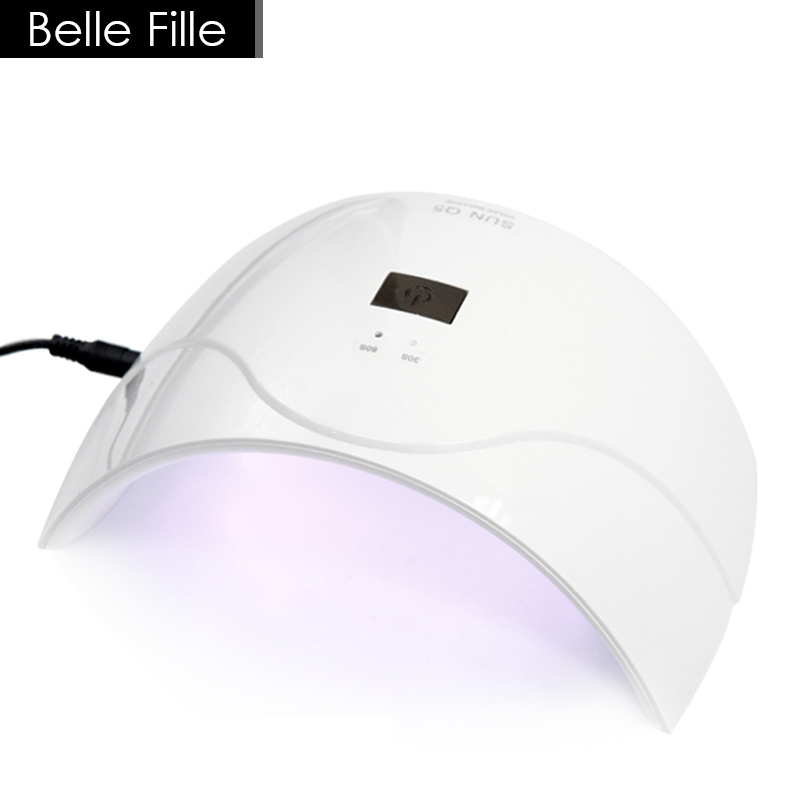 BELLE FILLE UV Lamp For Drying Nail Polish SUN5Q 24W Professional UV LED Lamp Nail Dryer Nail Gel Art Tools Drying Of Nails ultraviolet lamp for nails uv l mpara de u as de gel nail art gel cura uv l mpada de cura secador nail tools nail dryer led lamp