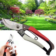 Garden Scissor carbon steel Non-slip Hand pruner anvil Branch Shear pruning cut bonsai Shrub Orchard tool Plant tree trim bypass
