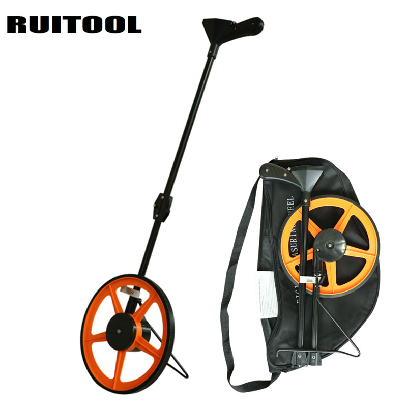 RUITOOL Digital Distance Meter 0-999,999.9 Folding Distance Measuring Wheel Range Finder Construction Tools qldz01 1 5 lcd display range finder distance measuring wheel black yellow silver 2 x aaa