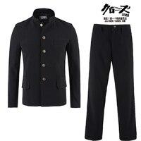 Бесплатная доставка Новый японский повседневная школьная форма мужчин мальчика тонкий пиджак китайский костюм комплект куртка + Штаны в Ко
