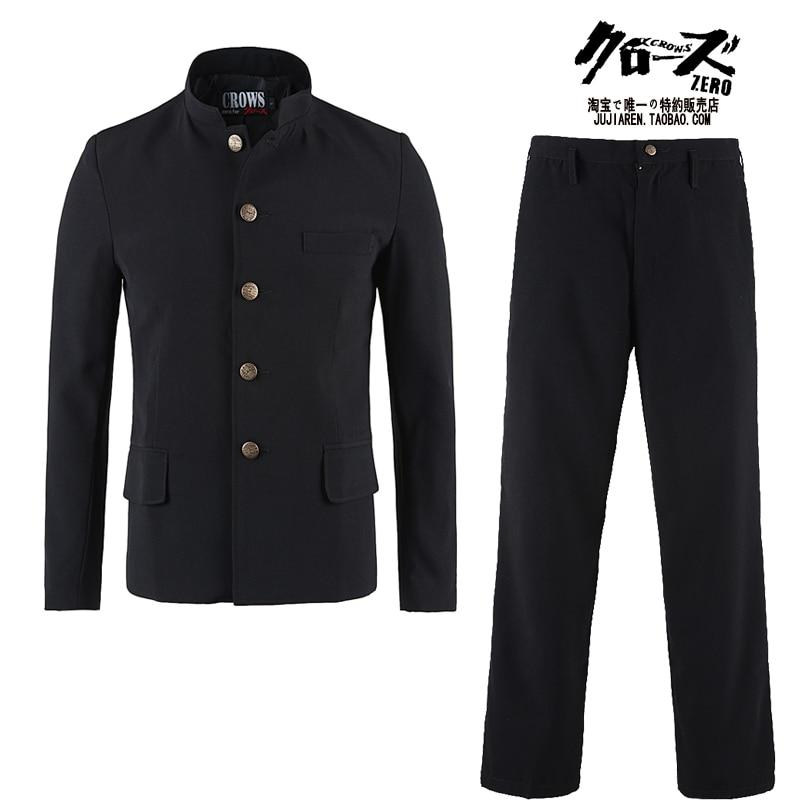 Free Shipping New Japanese Casual School Uniform Male Men's Boy Slim Blazer Chinese Suit Set Jacket+pants Korean Long On Sale
