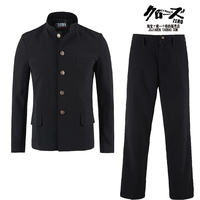 Free Shipping New Japanese casual school uniform male men's boy slim blazer chinese suit set jacket+pants Korean long On Sale