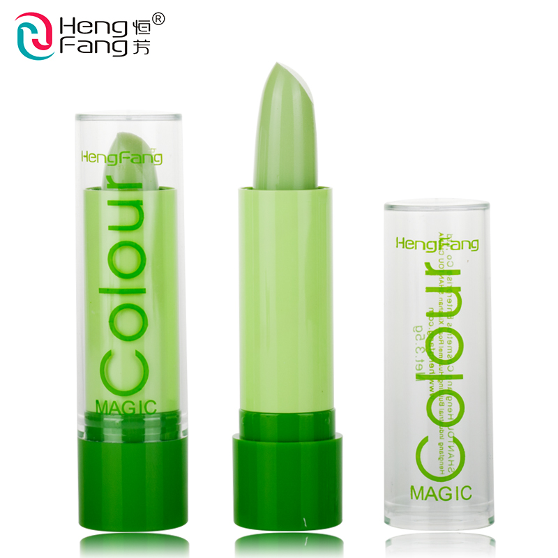 1Pc Magic Colour Temperature Change Color Lip balm Moisture Anti-aging Protection Lips 3.2g Makeup Brand HengFang #H114