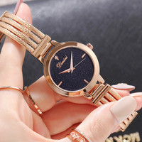 Top Brand Watch Women Watches Rose Gold Bracelet Watch Luxury Rhinestone Ladies Watch Saat Relogio Feminino